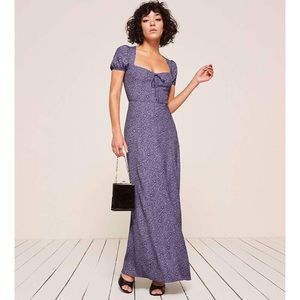 BNWT $248 Reformation Rosetti Dress Violet 0